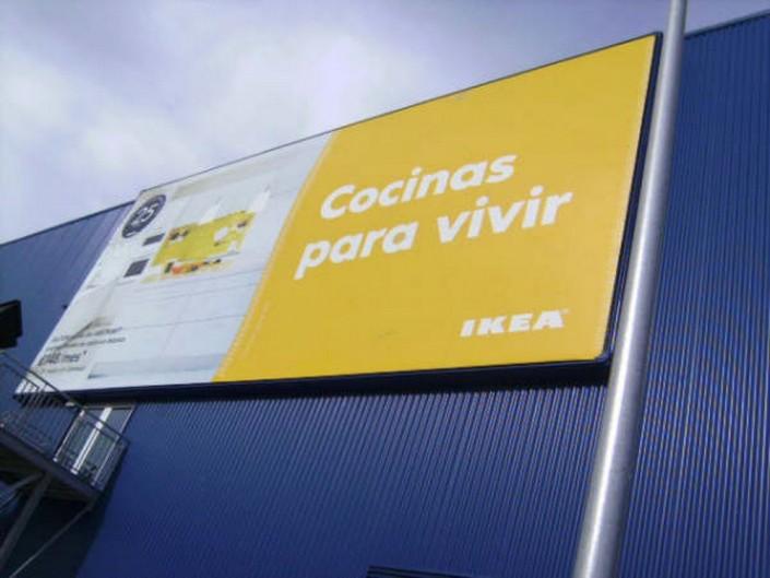 Lonas publicitarias IKEA Málaga | ICÓNICA | Expertos en rotulación en Vitoria-Gasteiz