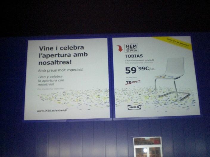 Lonas publicitarias IKEA Sabadell | ICÓNICA | Expertos en rotulación en Vitoria-Gasteiz