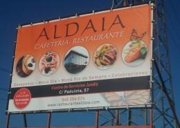 Lonas publicitarias Restaurante Aldaia Vitoria-Gasteiz | ICÓNICA | Expertos en rotulación en Vitoria-Gasteiz