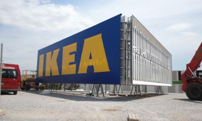 Monopostes IKEA Barakaldo | ICÓNICA | Expertos en rotulación en Vitoria-Gasteiz