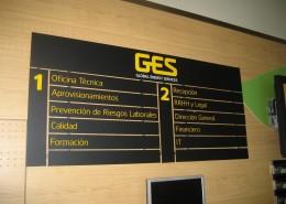 Señalética GES en Bilbao | ICÓNICA | Rótulos en Vitoria-Gasteiz | Expertos en rotulación